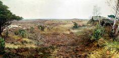 Mooi, Panorama van de Kempen Charles Wellens schilderde in 1954 'Panorama van de Kempen'