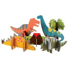 Paper Dolls - Petit Collage Ecofriendly Toys Dinosaur Pop Out and Play >>> To view further for this item, visit the image link. Kids Crafts, Projects For Kids, Art Projects, Cardboard Animals, Cardboard Crafts, Paper Crafts, Diy With Kids, Holiday Boutique, Dinosaur Crafts