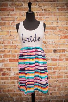 Bubblegum Snap BRIDE DressPink/Navy Stripes by thearmorofGod, $49.00 #bridetobe #blushpink #bridalshower #bacheloretteparty #stripes #rehearshaldinner