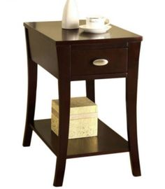 Rectangular End Table Contemporary Living Room Furniture Espresso Finish New