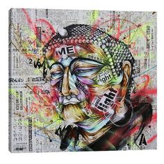 "JaxsonRea ""Holy"" by Taka Sudo Graphic Art on Wrapped Canvas Size:"