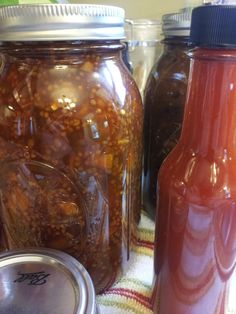 Indian Marmalade Chutney and Fermented Hot Sauce.