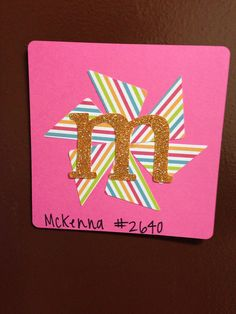 Door decs-an initial for each resident's name