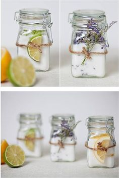 Container candles are a beautiful way to accent your home, especially the bathroom. To make your container candles look the best, choose glassware that is sturdy and has a simple design. Homemade Candles, Diy Candles, Homemade Gifts, Dried And Pressed Flowers, Diy Crafts To Do, Candle Containers, Jar Gifts, Deco Design, Candle Making