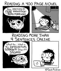 Reading A Novel Vs. Reading Online