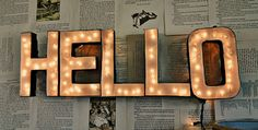 DIY Lighted Letters Sign Light Letters, Large Letters, Crafty Craft, Fun Crafts, Home Crafts, Marquee Letters, Diy Light, Diy Art, Beautiful Mess