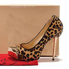 Shoespie Chain Decorated Platform Heels