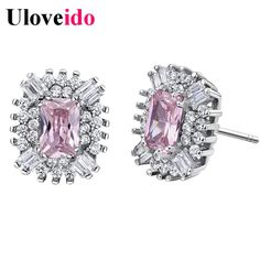 Find More Stud Earrings Information about 50% off Fashion Multicolor Sterling Silver Earring for Women Vintage Jewelry Rhinestone Brincos boucle d oreille Uloveido R831,High Quality jewelry hallmark,China jewelry gem Suppliers, Cheap jewelry doll from Uloveido Official Store on Aliexpress.com