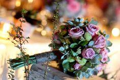 Rustic Hand Bouquet by Amara Universe! Love the use of Echeveria