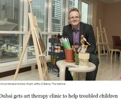 Interviewed by The National newspaper about the opening of the new clinic. Picture of Andrew Wright