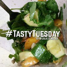 Homemade Kale, Arugula, & Zucchini Raw Salad