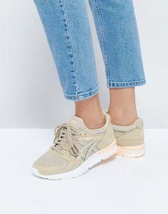 9229631a43d1be Asics Mesh Gel-Lyte V Sneakers In Beige Asics Shoes