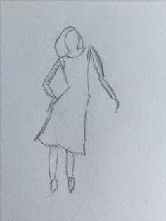 Vrouwelijk figuur met lange jurk