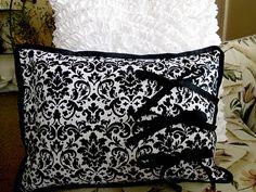 Black and white Damask Pillow Cute Pillows, Soft Pillows, Throw Pillows, White Damask, Best Pillow, Poufs, Pillow Talk, Cookie, Sleep