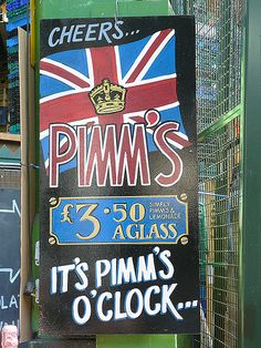 Borough Market, London - It's Pimm's o'clock! London Pubs, Old London, Pimms O Clock, England Ireland, British Accent, Tower Of London, London Life, Advertising Signs, London Calling