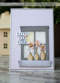 Come and see my New Home card using Stampin' Up! supplies for the new Global Design Project Challenge Blog and join in too! with me top UK Demo Michelle Last
