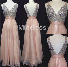 Long Chiffon Prom Dresses Summer Sexy Long Evening Dresses