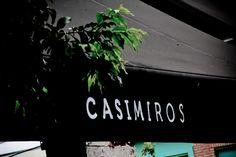 detalhe da fachada do bar Casimiros