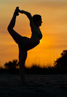 Yoga, dancers pose, on of my favorites!