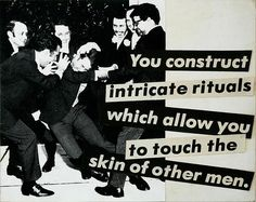 Barbara Kruger, Untitled (You Construct Intricate Rituals Which Allow You to Touch the Skin of Other Men), photolithograph on matchbook Barbara Kruger Art, Pop Art, Nate River, Jenny Holzer, Another Love, Guy, Literary Criticism, Feminist Art, Consumerism