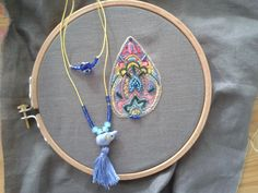 simple neckles and embroidery pattern