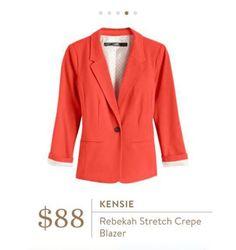Stitch Fix: Kensie Rebekah Contrast Detail Blazer $88