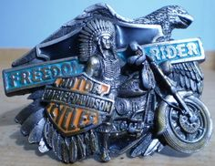 Harley-Davidson Freedom Rider Belt Buckle Eagle Indian Superglide by Baron