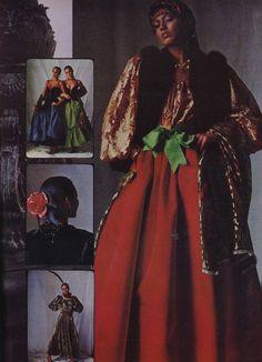 Yves Saint Laurent Rive Gauche Russian collection 1976