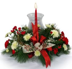 christmas floral centerpieces - Google Search