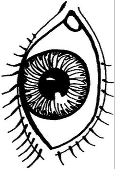 coloring page human body human body - Eye Coloring Page