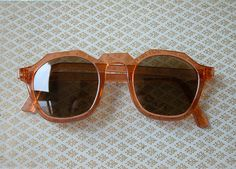 68e36be94af Vintage Coral Sunglasses 1920 s 1930 s Art Deco Style from the 1970 s on  Etsy