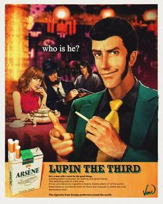 For the latest scoop on viral images and animated GIFs of the day, check out our Trending Images Gallery. Arsen Lupin, Lupin The Third, Cigarette Brands, Cartoon Fan, Cowboy Bebop, Dope Art, Miyazaki, Coincidences, Fine Wine
