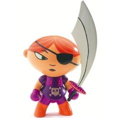 Amazon.com: Arty Toys / Mary Scarlett Poseable Pirate Figurine by Djeco: Toys & Games
