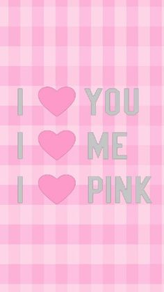 Pink gingham i love you wallpaper heart wallpaper, hello kitty wallpaper, i Pink Nation Wallpaper, Iphone Lockscreen Wallpaper, Rose Gold Wallpaper, Flower Wallpaper, Phone Wallpapers, Wallpaper Quotes, Victoria Secret Wallpaper, Hello Kitty Pictures, Pink Perfume
