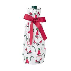 Flannel Wine Bags - Santa at The Company Store - Home Décor - Kitchen & Dining - Serveware - One Size