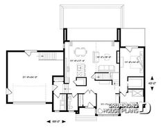 House Plan 76499 - Contemporary, Modern Style House Plan with 2142 Sq Ft, 4 Bed, 3 Bath, 2 Car Garage Pole Barn House Plans, Garage Plans, Shed Plans, House Floor Plans, Car Garage, Contemporary House Plans, Modern House Plans, Small House Plans, House Plans And More