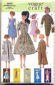 Digital Barbie Pattern Vintage Inspired wardrobe by digitaldolly, $4.29