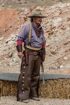 Cowboy action shooting, Huntsman World Senior Games 2012, St. George, Utah, Oct. 2012 | Photo by Chris Caldwell, St. George News