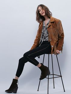 Free People Levon Zipper Skinny at Free People Clothing Boutique