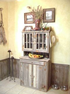 Old Barn Wood Ideas Faux Cabinets These Homeowners Had Tiled Their Countertops