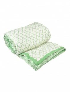 Mughal Jaali Cotton AC Quilt - Queen