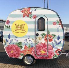 I see a closet/ pop-up shop on wheels