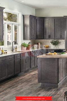 We're proud to offer American kitchen cabinets that are manufactured in the United States by skilled craftspeople. Patton Gray cabinets are made of high-quality materials, our assembled cabinets arrive ready to install with matching interior and cabinet sides.