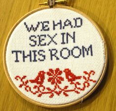 Cheeky Cross Stitch by FoxAndStitches on Etsy, £11.00