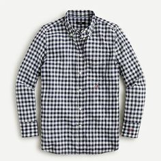 J.Crew: Classic-fit Shirt In Crinkle Gingham For Women