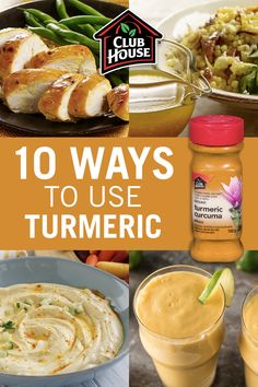 Did you know that turmeric is a versatile spice that can be used in many different ways? From dips to drinks and breakfast through dinner, take a look at 10 creative ways to use turmeric to spice up your everyday meals! Diet Recipes, Vegetarian Recipes, Cooking Recipes, Healthy Recipes, Healthy Drinks, Healthy Snacks, Healthy Eating, Turmeric Recipes, Josephine