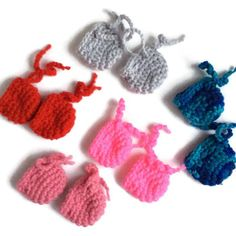 Crocheted doll shoes for 10 inch Waldorf doll like Bamboletta Little Buddy, READY TO SHIP tie up doll booties Girl Tied Up, Waldorf Dolls, Doll Shoes, Yarn Colors, Doll Accessories, Girl Dolls, American Girl, Boy Or Girl, Doll Clothes