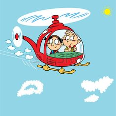 The illustration shows two children playing Boy and girl flying in a helicopter on a background of blue sky with clouds Illustration on separate layers, in a cartoon style Illustration Counting Activities, Preschool Activities, Cartoon Pics, Cartoon Styles, Cloud Illustration, Sky And Clouds, Second Child, Royalty Free Photos, Separate