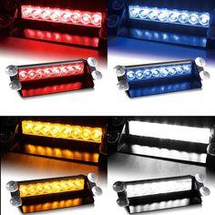 Car Vechicle Led Emergency Strobe Flash Warning Light 12V 8 Led Flashing Lights Red Blue White Green♦️ SMS - F A S H I O N 💢👉🏿 http://www.sms.hr/products/car-vechicle-led-emergency-strobe-flash-warning-light-12v-8-led-flashing-lights-red-blue-white-green/ US $13.59