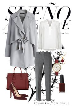 """""""Bez naslova #15"""" by semir-jimmy-hidanovic ❤ liked on Polyvore featuring Yves Saint Laurent, Gianvito Rossi, Chicwish, NOVICA, Diane Von Furstenberg, DKNY and FOSSIL"""